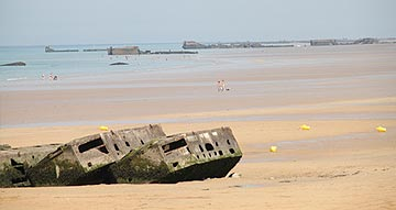 The landing D-Day Beaches