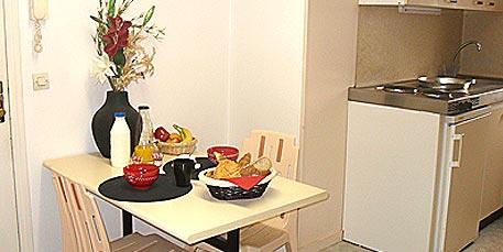 Cuisine équipée - Studio meublé Temporis Caen