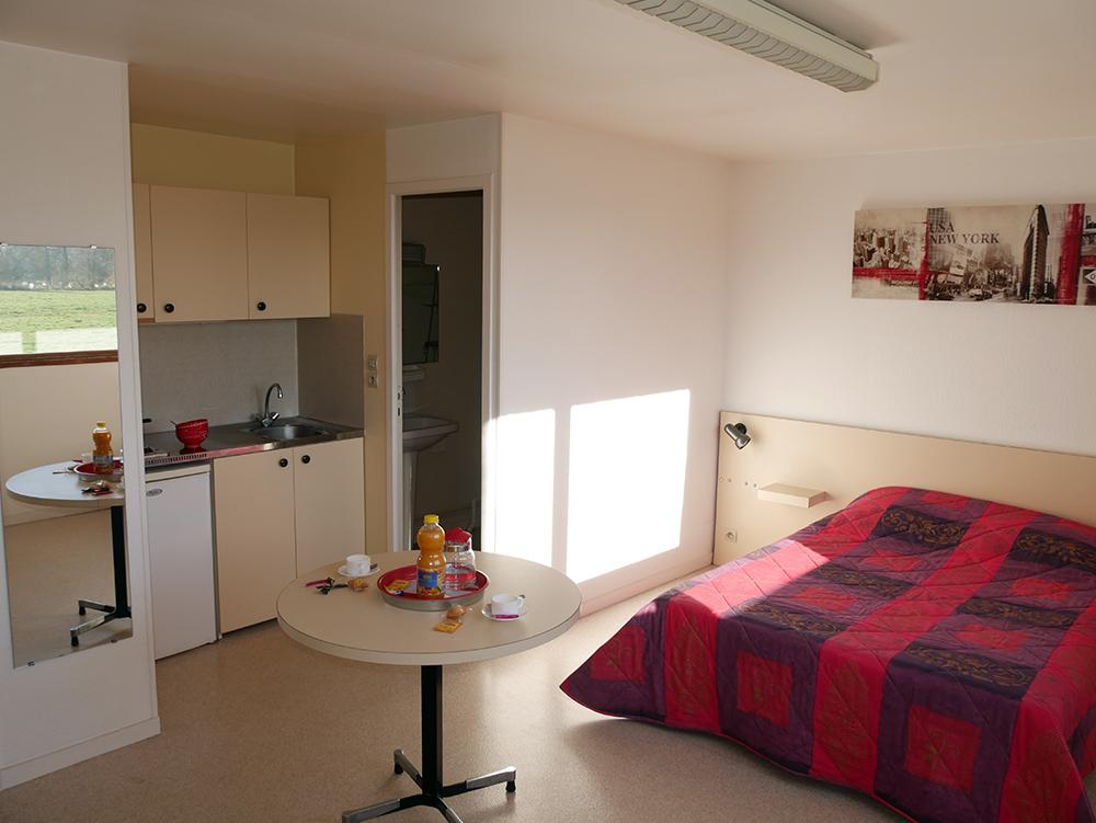 studio-meubé à louer-caen-Residence les Temporis